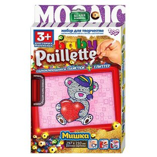 Danko Toys Аппликация из пайеток Baby Paillette Медвежонок PG-01-01