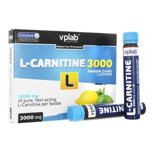 VP Laboratory L-Carnitine 3000 мг (7 ампул х 25 мл)